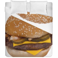 Cheeseburger On Sesame Seed Bun Duvet Cover Double Side (california King Size) by Simbadda