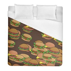 A Fun Cartoon Cheese Burger Tiling Pattern Duvet Cover (full/ Double Size) by Simbadda