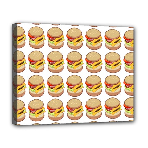 Hamburger Pattern Deluxe Canvas 20  X 16   by Simbadda