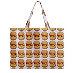 Hamburger Pattern Zipper Mini Tote Bag by Simbadda