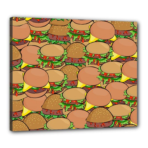 Burger Double Border Canvas 24  X 20