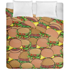 Burger Double Border Duvet Cover Double Side (california King Size) by Simbadda
