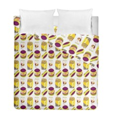 Hamburger And Fries Duvet Cover Double Side (full/ Double Size) by Simbadda