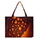 Bubbles Abstract Art Gold Golden Medium Tote Bag View1