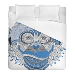 Pattern Monkey New Year S Eve Duvet Cover (full/ Double Size) by Simbadda