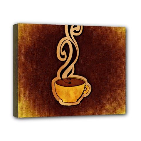 Coffee Drink Abstract Canvas 10  X 8  by Simbadda