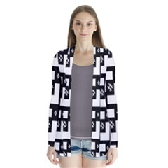 Abstract Pattern Background  Wallpaper In Black And White Shapes, Lines And Swirls Cardigans