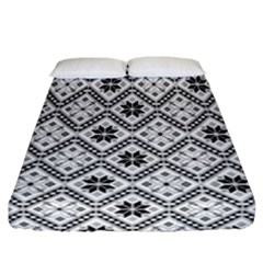 Folklore Fitted Sheet (california King Size) by Valentinaart