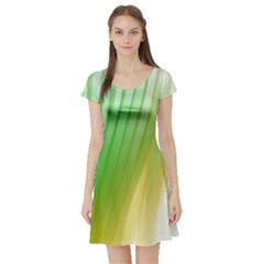 Folded Digitally Painted Abstract Paint Background Texture Short Sleeve Skater Dress by Simbadda