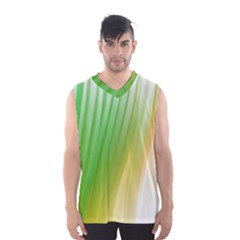 Folded Digitally Painted Abstract Paint Background Texture Men s Basketball Tank Top by Simbadda