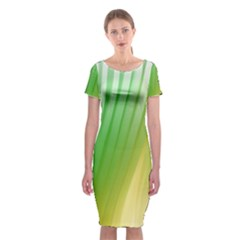 Folded Digitally Painted Abstract Paint Background Texture Classic Short Sleeve Midi Dress by Simbadda