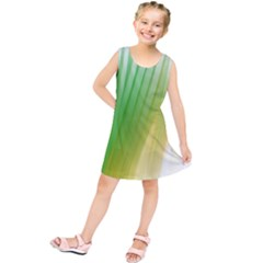 Folded Digitally Painted Abstract Paint Background Texture Kids  Tunic Dress