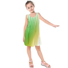 Folded Digitally Painted Abstract Paint Background Texture Kids  Sleeveless Dress by Simbadda