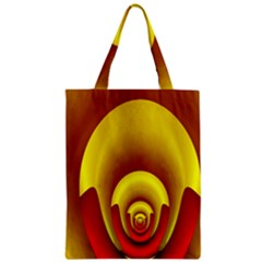 Red Gold Fractal Hypocycloid Zipper Classic Tote Bag by Simbadda