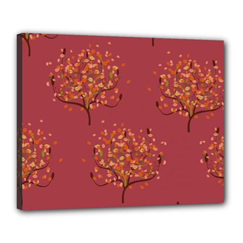 Beautiful Tree Background Pattern Canvas 20  X 16  by Simbadda