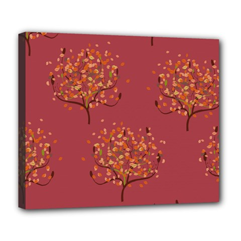 Beautiful Tree Background Pattern Deluxe Canvas 24  X 20   by Simbadda