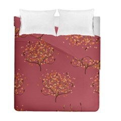 Beautiful Tree Background Pattern Duvet Cover Double Side (full/ Double Size) by Simbadda