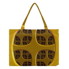 Golden Fractal Window Medium Tote Bag