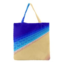 Beach Sea Water Waves Sand Grocery Tote Bag
