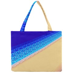 Beach Sea Water Waves Sand Mini Tote Bag by Alisyart