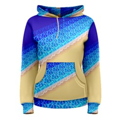 Beach Sea Water Waves Sand Women s Pullover Hoodie