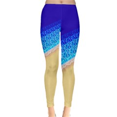 Beach Sea Water Waves Sand Classic Winter Leggings