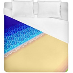 Beach Sea Water Waves Sand Duvet Cover (king Size) by Alisyart