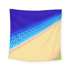 Beach Sea Water Waves Sand Square Tapestry (small) by Alisyart