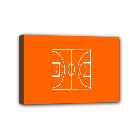 Basketball Court Orange Sport Orange Line Mini Canvas 6  X 4  by Alisyart