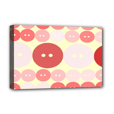 Buttons Pink Red Circle Scrapboo Deluxe Canvas 18  X 12   by Alisyart