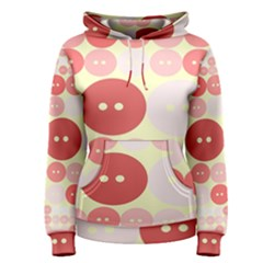 Buttons Pink Red Circle Scrapboo Women s Pullover Hoodie