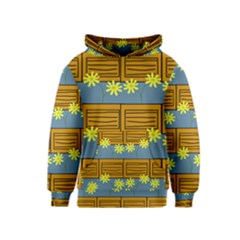 Yellow Flower Floral Sunflower Kids  Pullover Hoodie