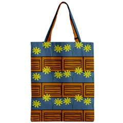 Yellow Flower Floral Sunflower Zipper Classic Tote Bag by Alisyart