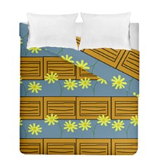 Yellow Flower Floral Sunflower Duvet Cover Double Side (full/ Double Size) by Alisyart