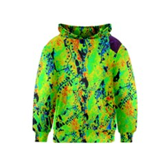 Bow Canopy Height Satelite Map Kids  Pullover Hoodie