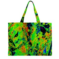 Bow Canopy Height Satelite Map Zipper Mini Tote Bag by Alisyart