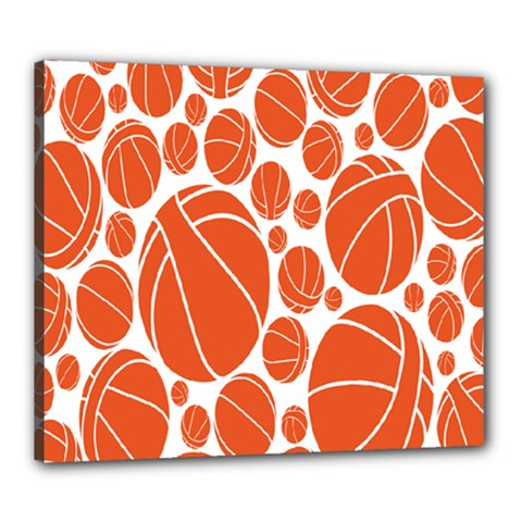 Basketball Ball Orange Sport Canvas 24  X 20