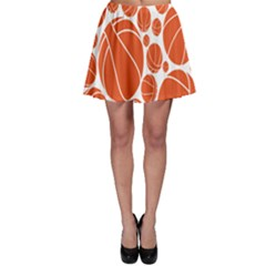 Basketball Ball Orange Sport Skater Skirt by Alisyart