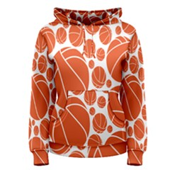 Basketball Ball Orange Sport Women s Pullover Hoodie