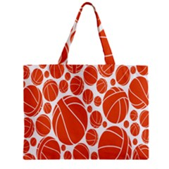 Basketball Ball Orange Sport Zipper Mini Tote Bag by Alisyart