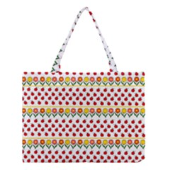 Ladybugs And Flowers Medium Tote Bag by Valentinaart