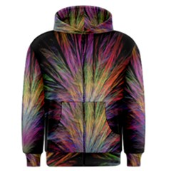Fractal In Many Different Colours Men s Zipper Hoodie