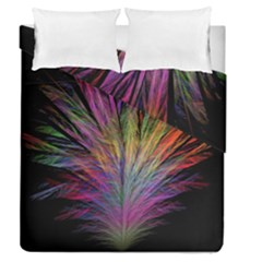 Fractal In Many Different Colours Duvet Cover Double Side (queen Size)