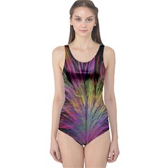 Fractal In Many Different Colours One Piece Swimsuit by Simbadda