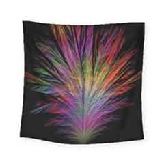 Fractal In Many Different Colours Square Tapestry (small)