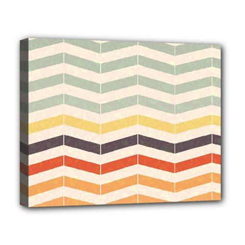 Abstract Vintage Lines Deluxe Canvas 20  X 16   by Simbadda
