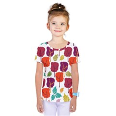 Colorful Trees Background Pattern Kids  One Piece Tee by Simbadda