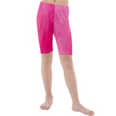 Very Pink Feather Kids  Mid Length Swim Shorts by Simbadda
