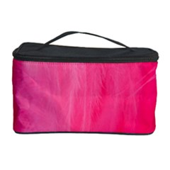 Very Pink Feather Cosmetic Storage Case