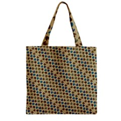 Abstract Seamless Pattern Zipper Grocery Tote Bag